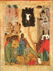 Вход Господень в Иерусалим - 1 апреля 2018 Вербное воскресение село Вощажниково