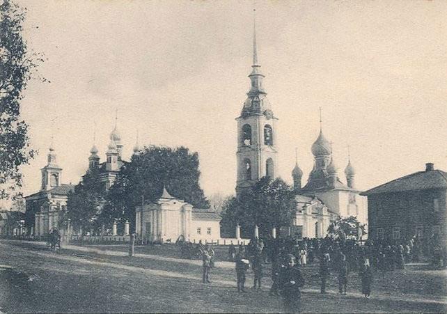Храмовый комплекс с. Вощажникова фото начала XX века