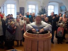 Крещение Господне - литургия в селе Вощажниково